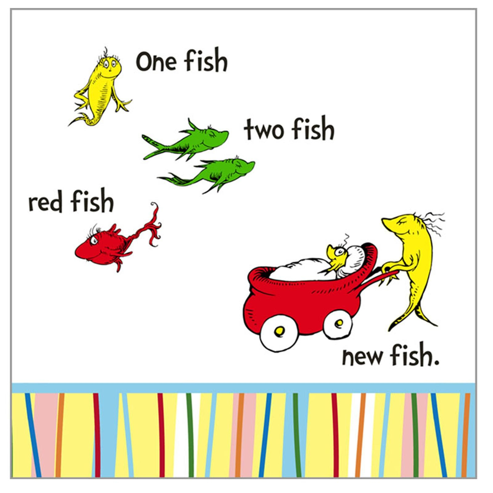 happy birthday dr seuss coloring pages - dr seuss one fish two fish clip art