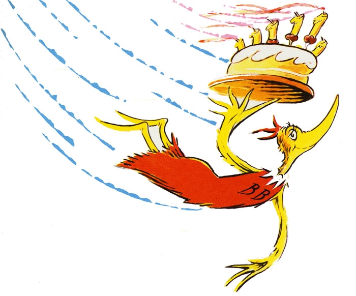 happy birthday dr seuss coloring pages - The Birthday Bird