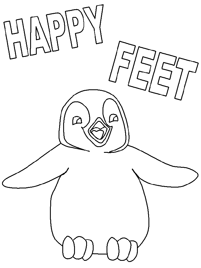 happy coloring pages - happy feet coloring pages