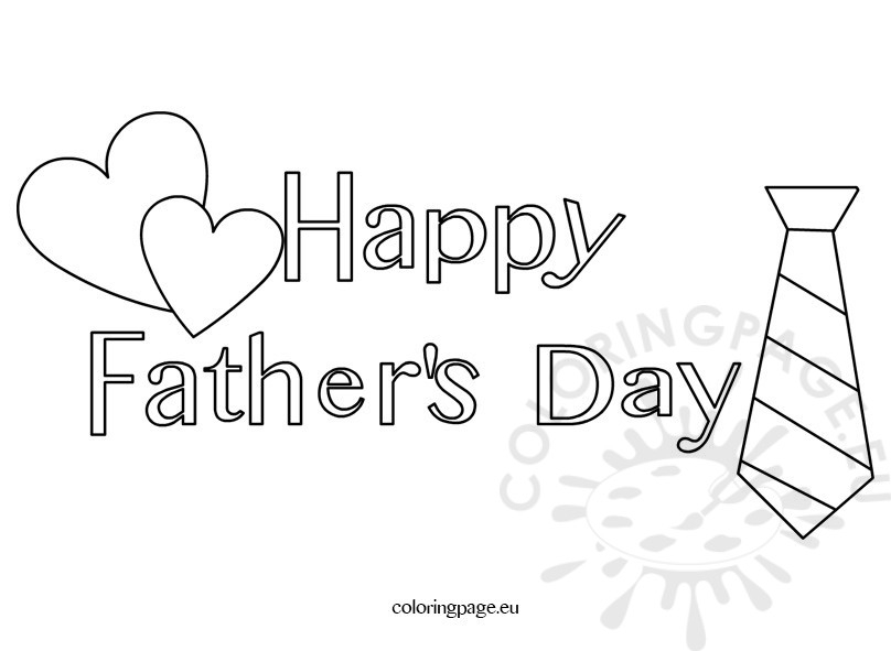 happy fathers day coloring pages - happy fathers day coloring page for kids