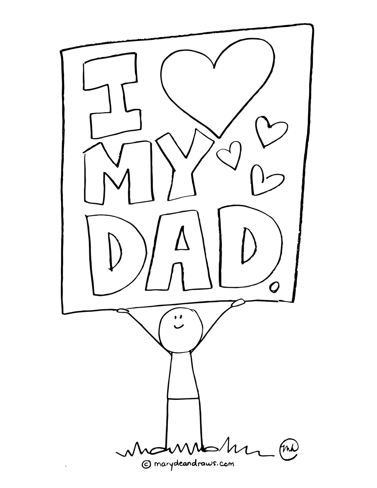 happy fathers day coloring pages printable - a fathers day printable coloring page