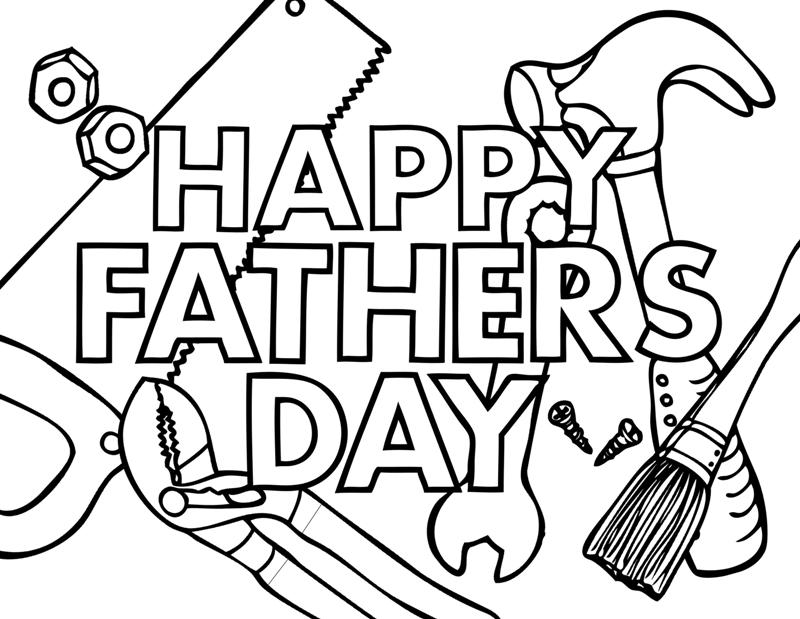 happy fathers day coloring pages printable - fathers day