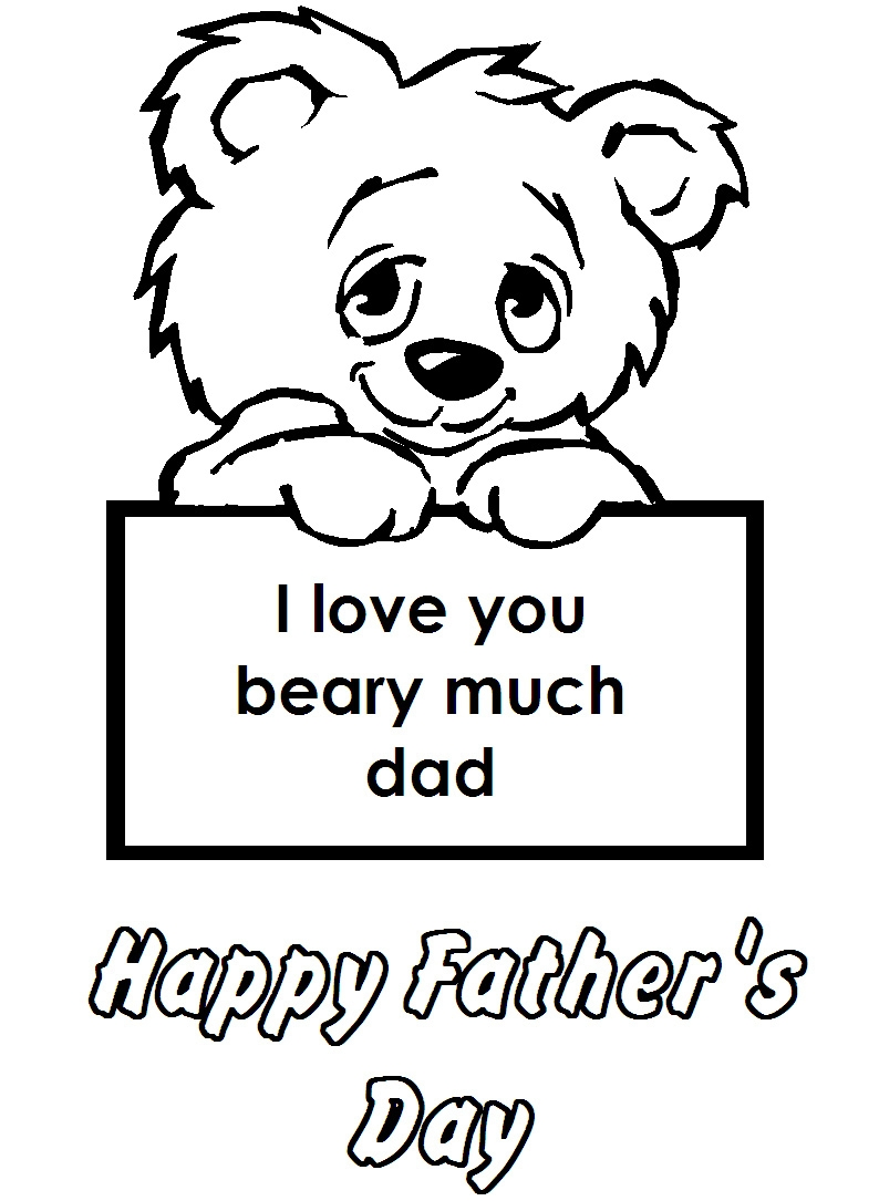 Happy Fathers Day Coloring Pages Printable - Free Coloring Pages for Fathers Day