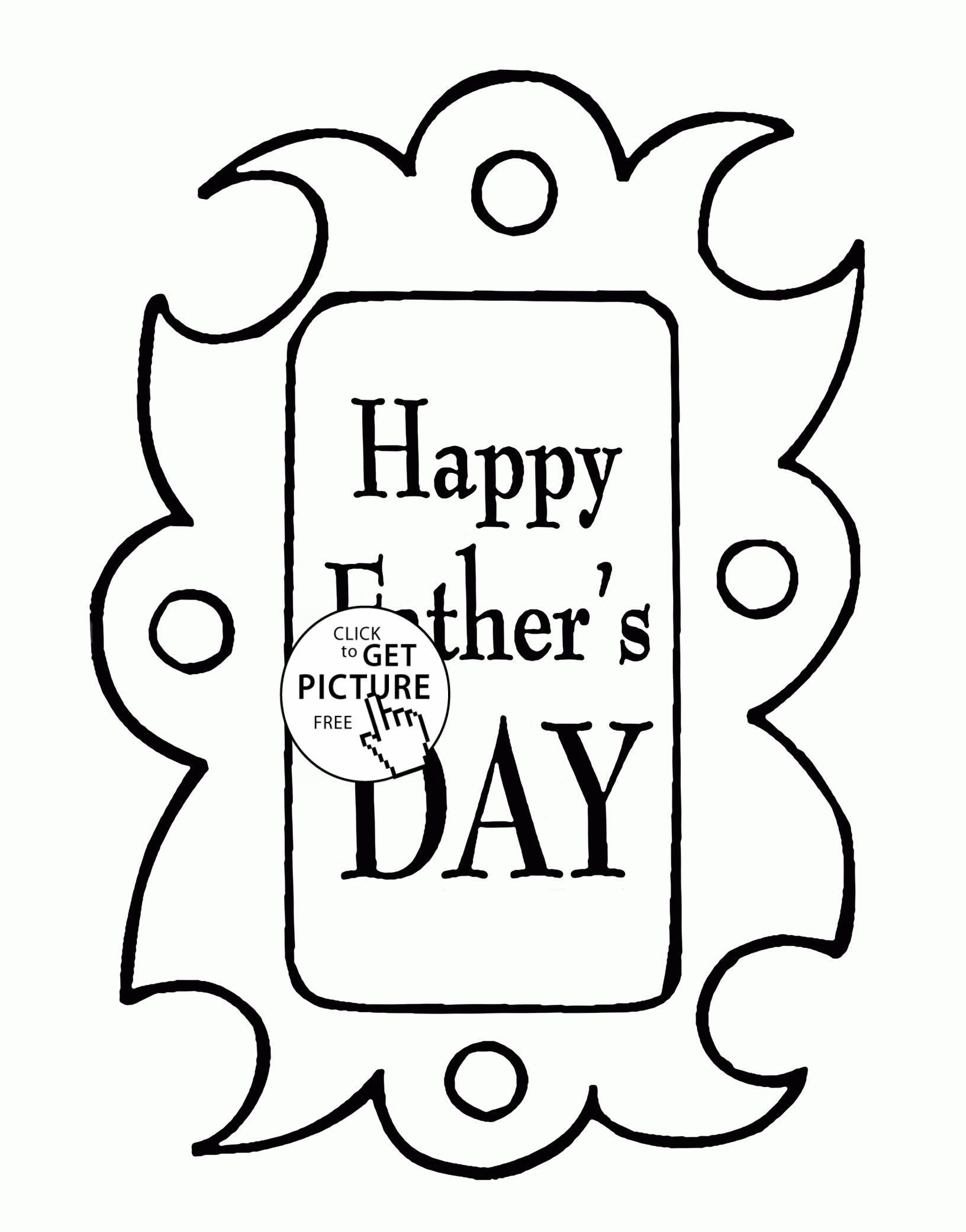 happy fathers day coloring pages printable - happy fathers day coloring page for kids holidays coloring pages printables free