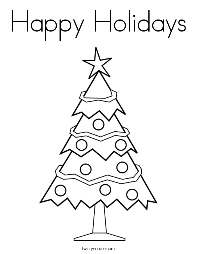 happy holidays coloring pages - happy holidays coloring page