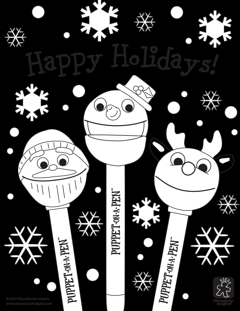 happy holidays coloring pages - happy holidays coloring pages