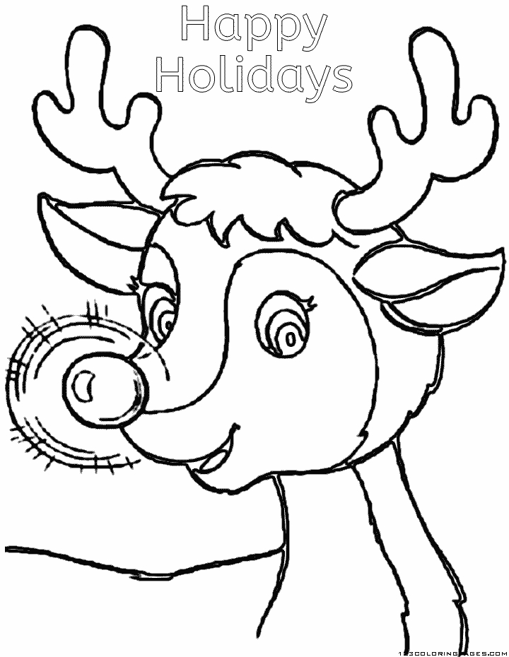 happy holidays coloring pages - happy holidays