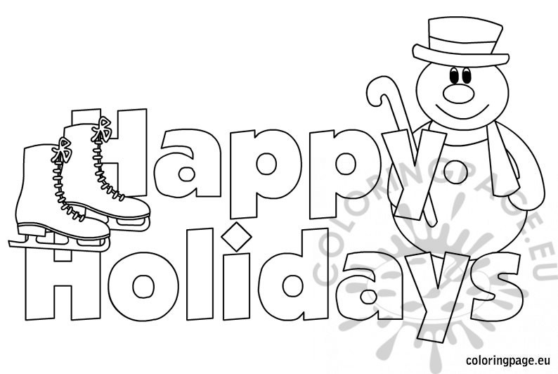 Happy Holidays Coloring Pages - Happy Holidays Images