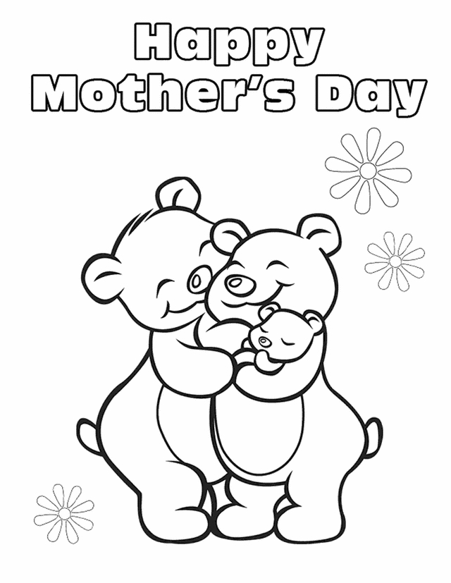 happy mothers day coloring pages - happy mothers day coloring pages