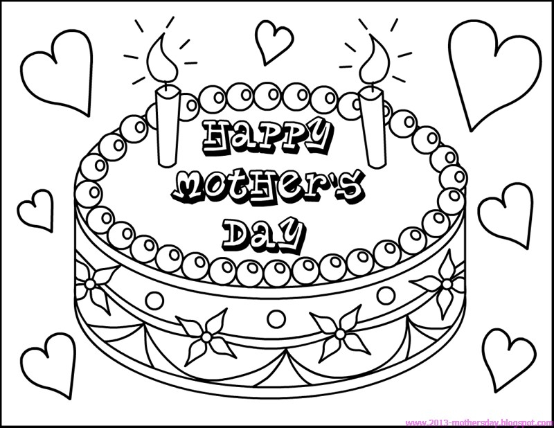 happy mothers day coloring pages - happy mothers day coloring pages for