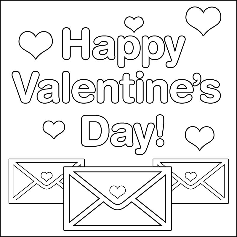 happy valentines day coloring pages - 14 happy holiday valentines day
