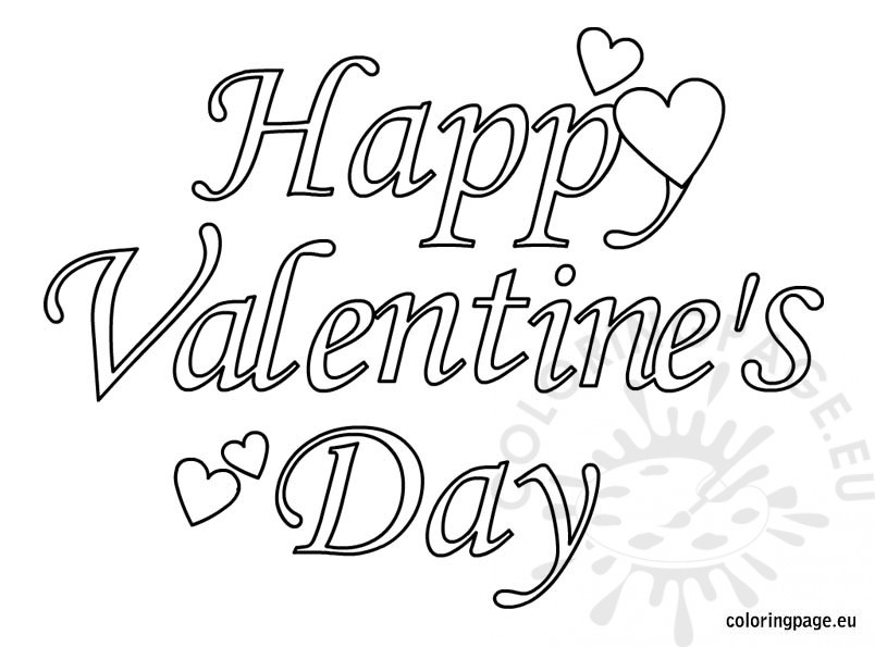 Happy Valentines Day Coloring Pages - Bubble Letters Coloring Happy Valentines Day Coloring Pages