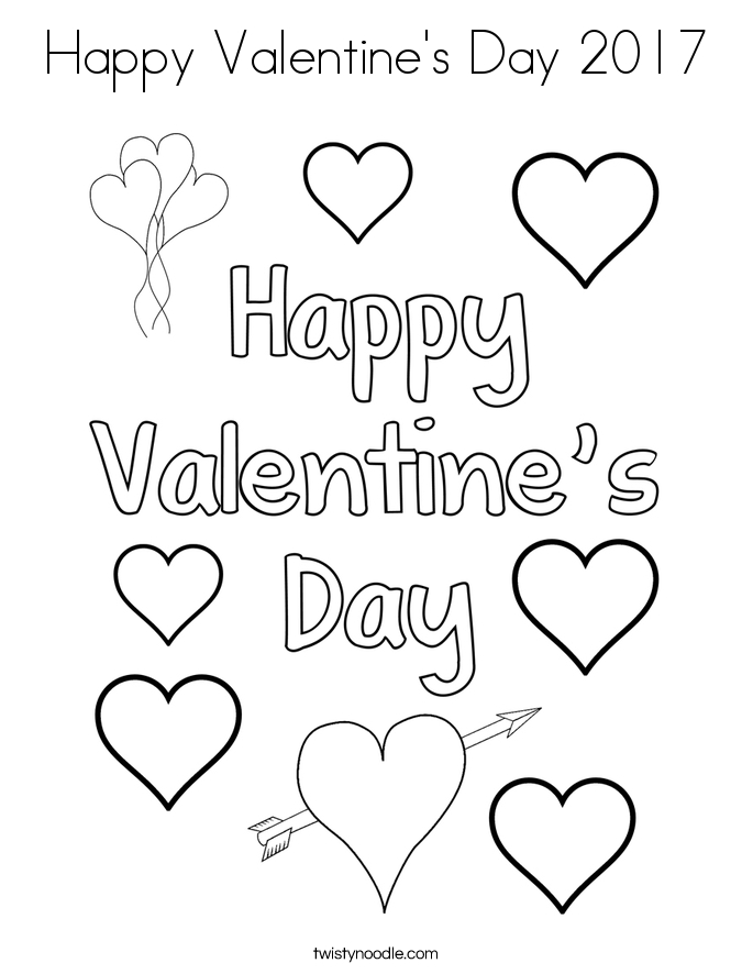 happy valentines day coloring pages - happy valentines day 2017 2 coloring page