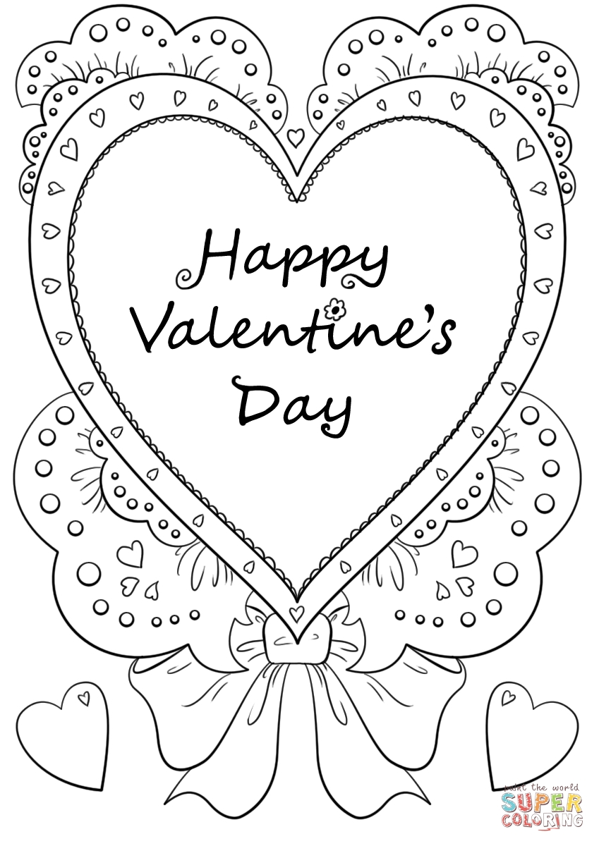 happy valentines day coloring pages - happy valentines day 2