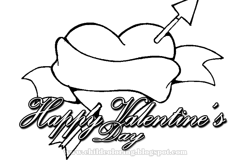 happy valentines day coloring pages - happy valentines day coloring 5