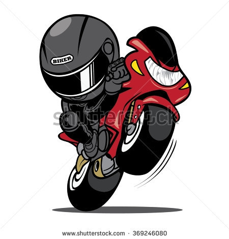 harley davidson coloring pages - cartoon motorcycle rider clip art