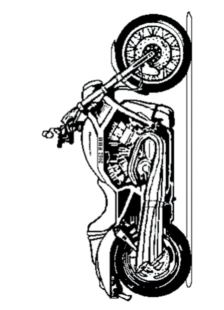 harley davidson coloring pages - 006