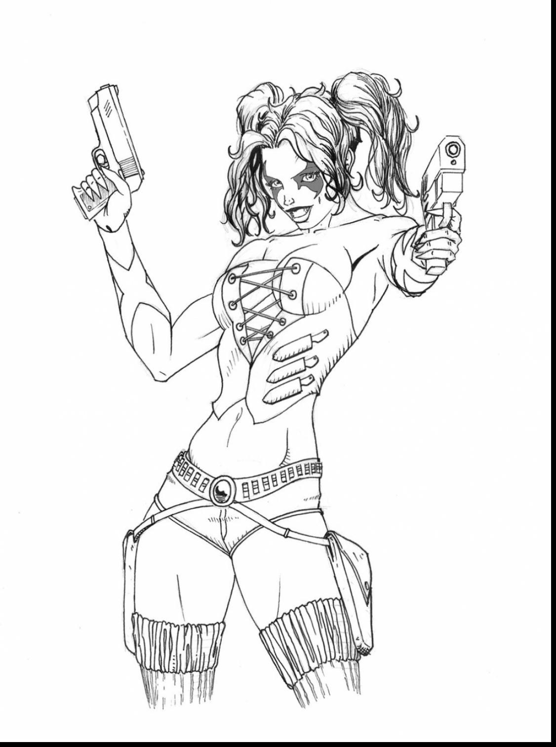 harley quinn and joker coloring pages - coloring page harley quinn