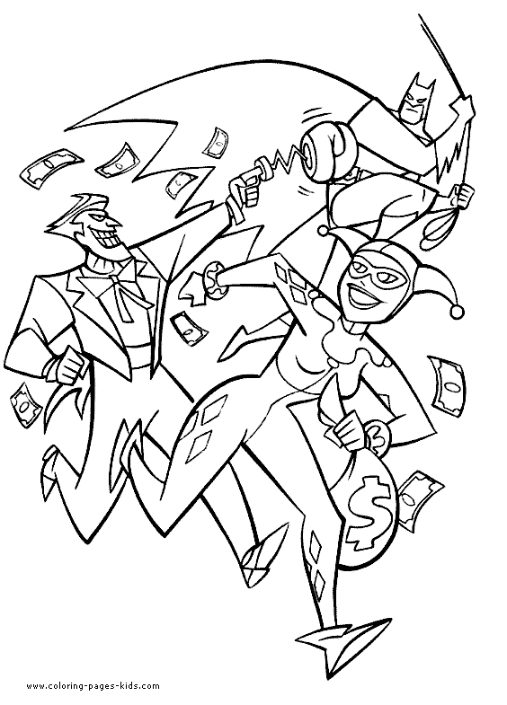 harley quinn and joker coloring pages - batman coloring page 19