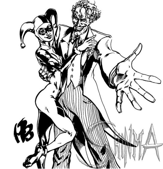 harley quinn and joker coloring pages - the batman adventures mad love