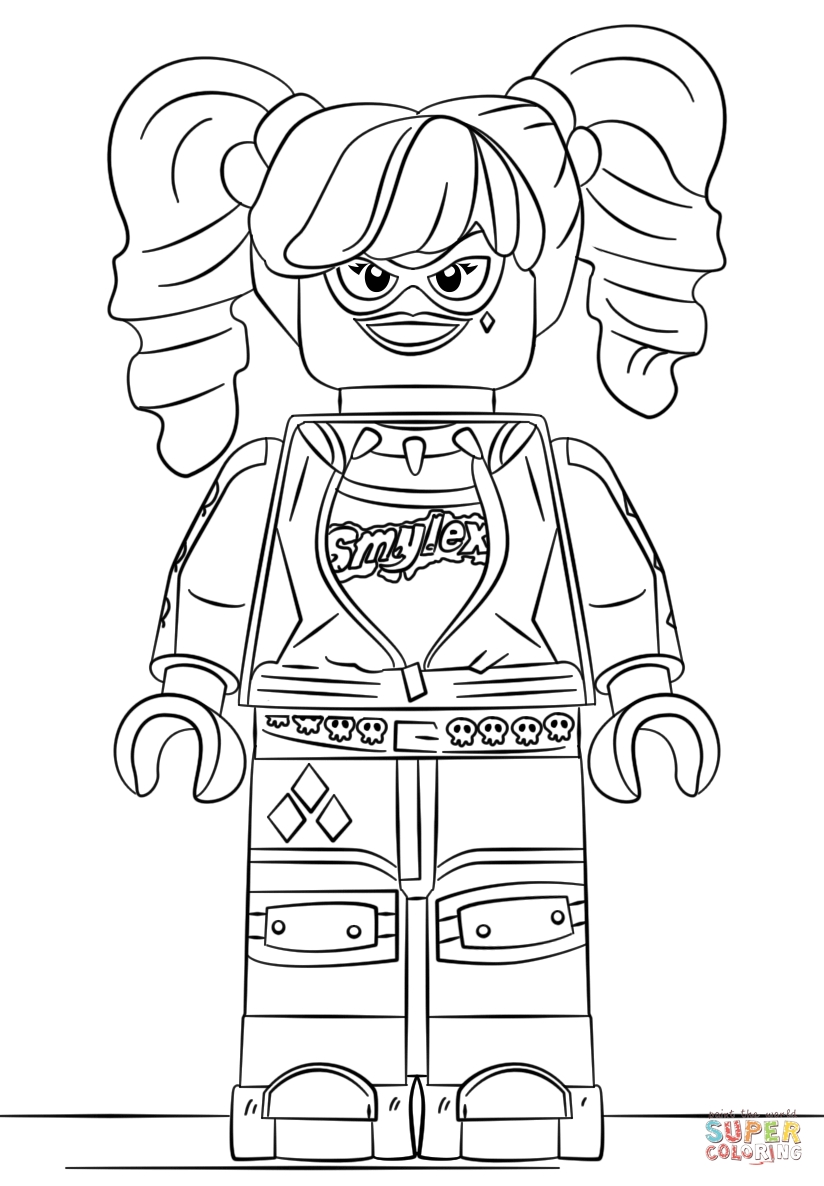 harley quinn and joker coloring pages - lego harley quinn 0