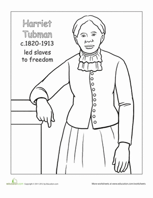 harriet tubman coloring page - color harriet tubman