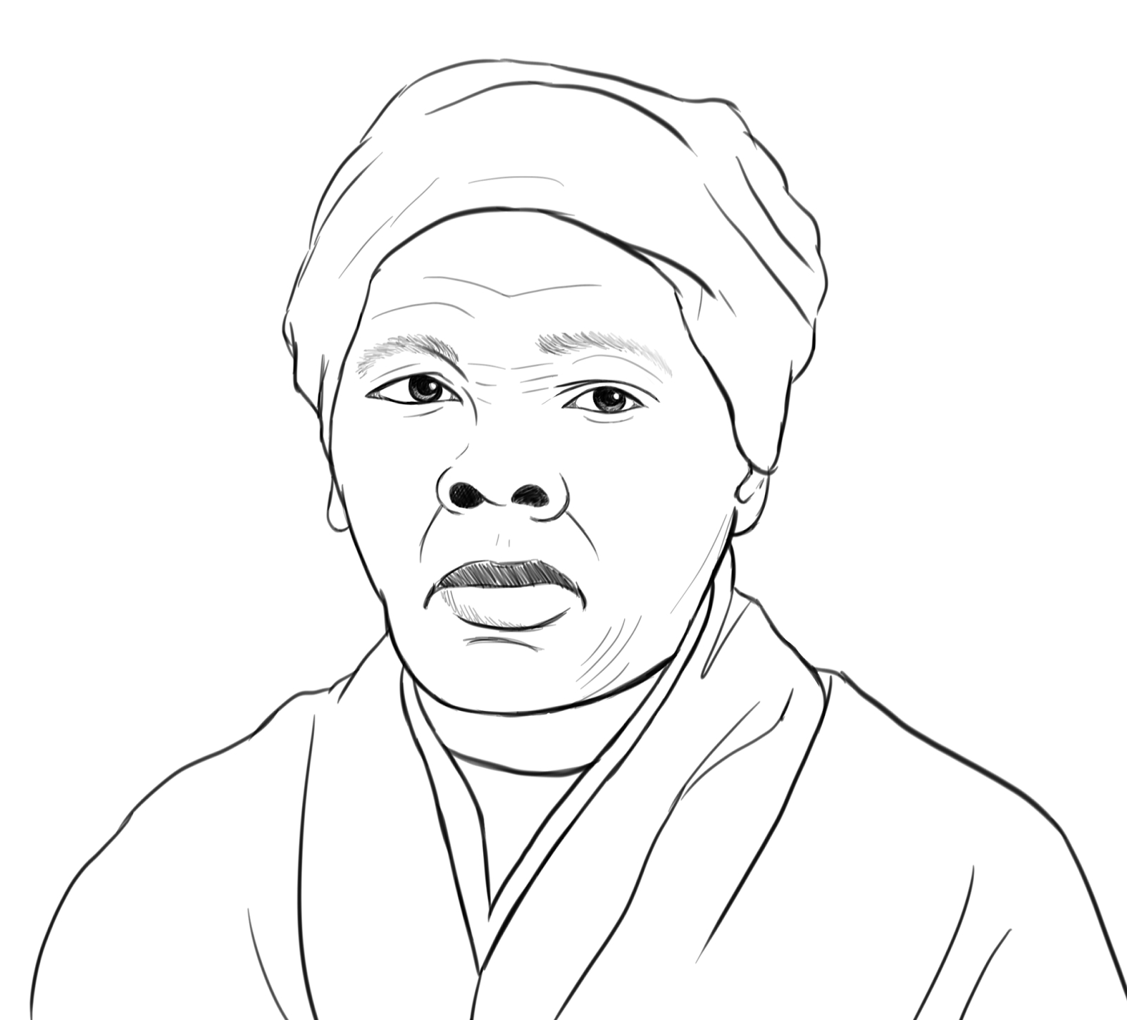 harriet tubman coloring page - coloring pages of harriet tubman