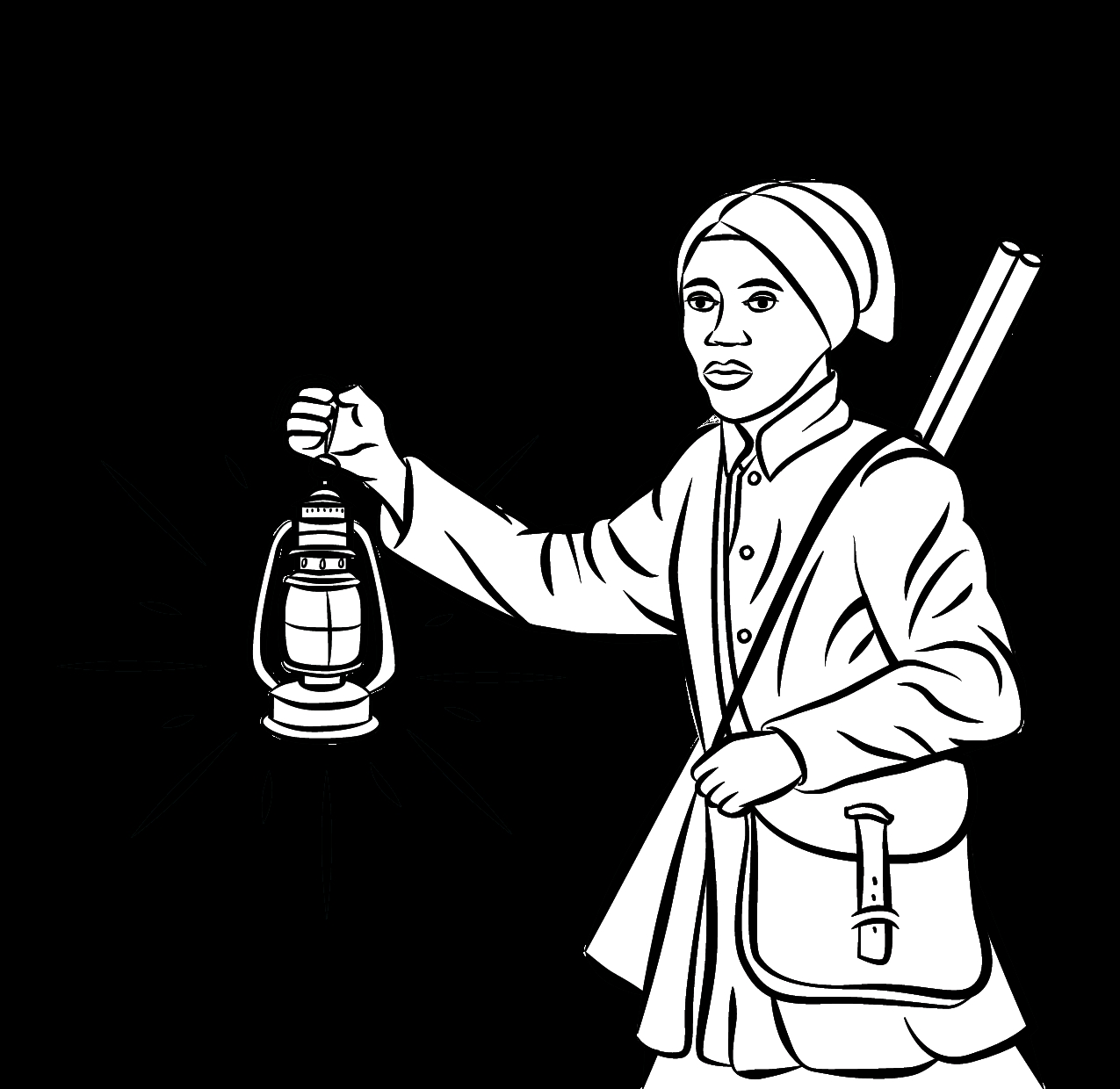 Harriet Tubman Coloring Page Sheets - Worksheet & Coloring Pages