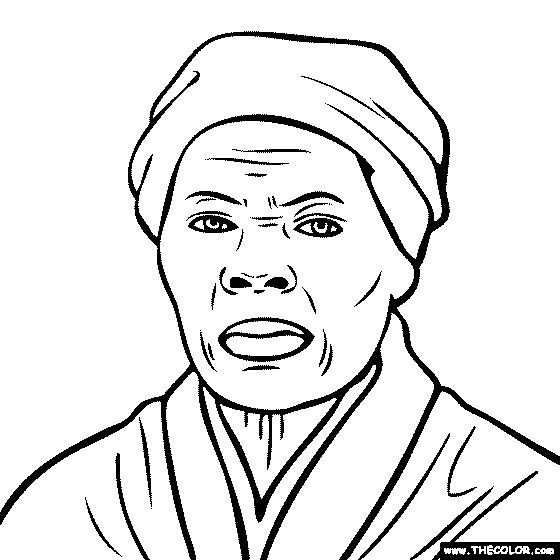 Harriet Tubman Coloring Page - Line Coloring Pages Starting with the Letter H Page 2