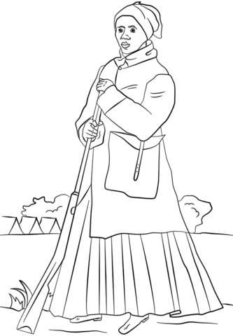 harriet tubman coloring page - harriet tubman coloring pages