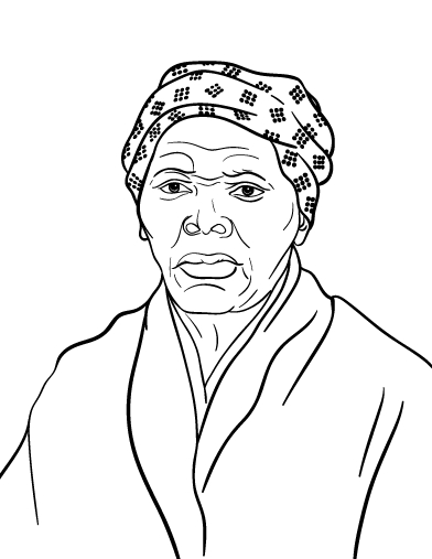 harriet tubman coloring page - r=the underground railroad