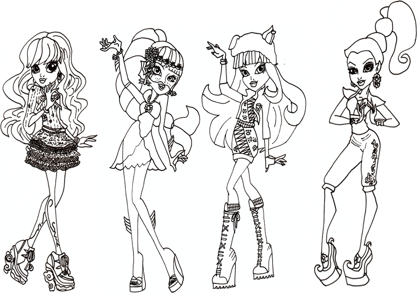 harry potter coloring pages - monster high 14