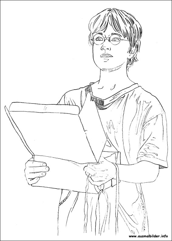 harry potter coloring pages - malvorlagen 8926