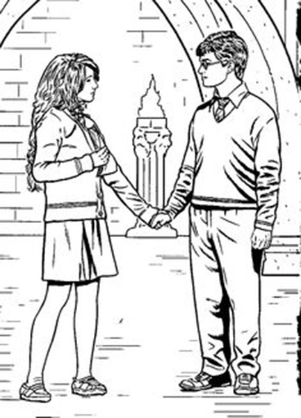 harry potter coloring pages - Hermione ed Harry Harry Potter da colorare