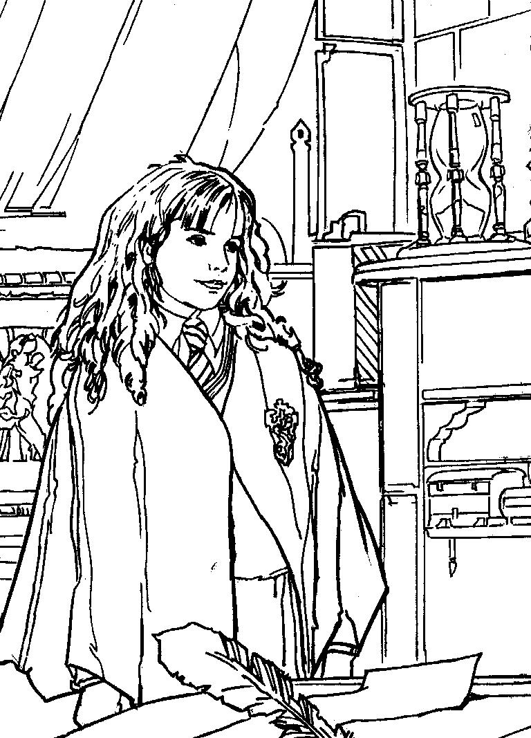 harry potter coloring pages - harry potter camera secretelor de colorat p25