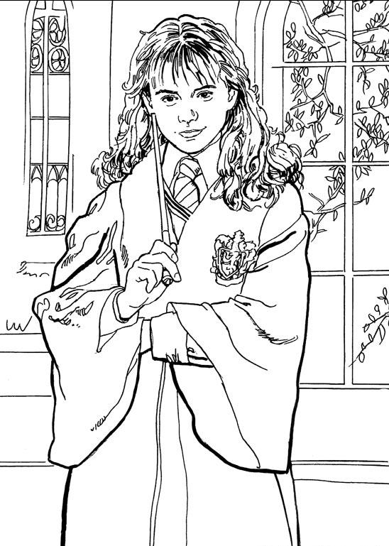 harry potter coloring pages - harry potter de colorat p06