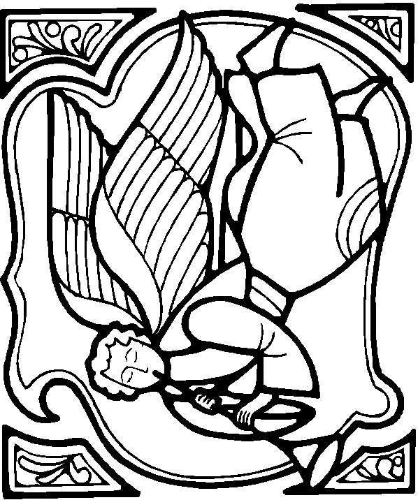 harvest coloring pages - ChristmasAngel