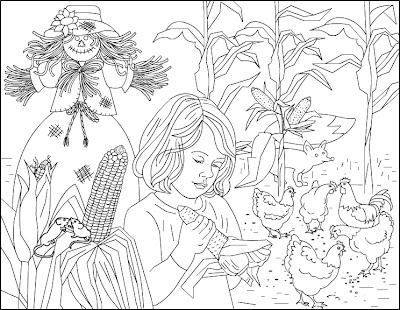 harvest coloring pages -