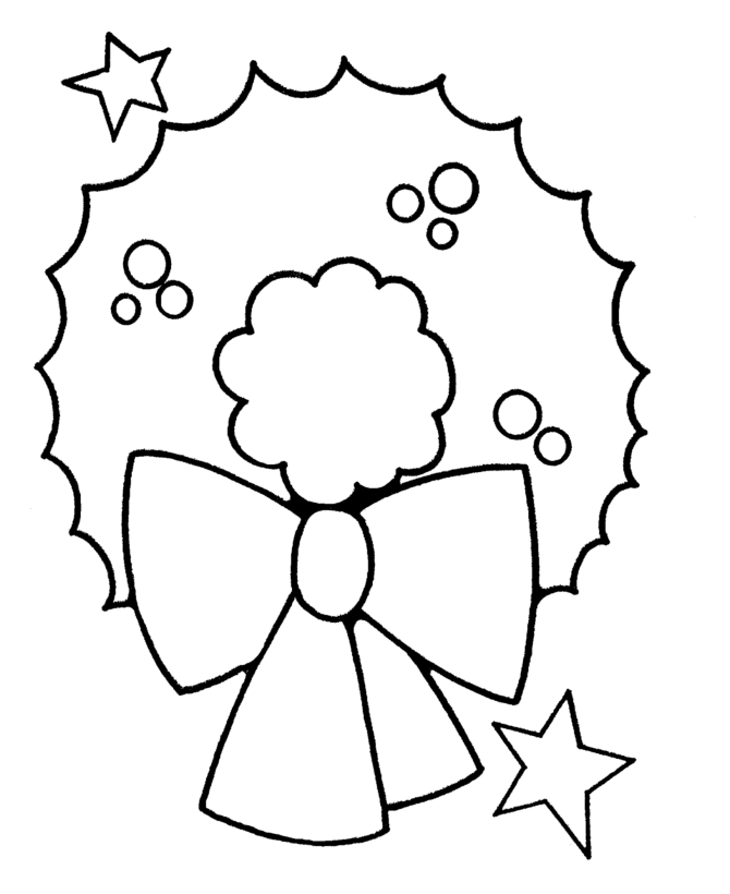 hat coloring page - simple christmas images
