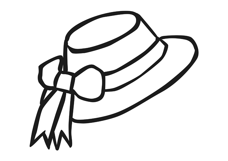 23 Hat Coloring Page Pictures