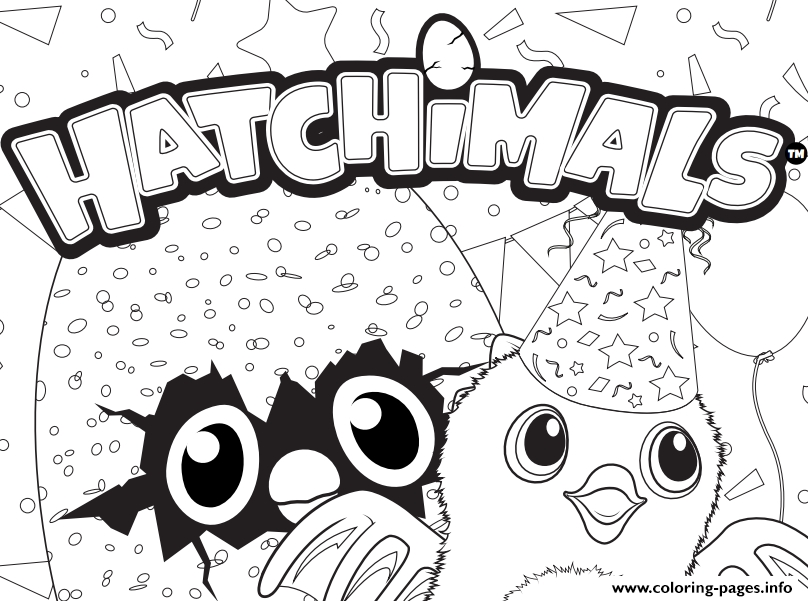 hatchimal coloring pages - hatchy hatchimals logo printable coloring pages book