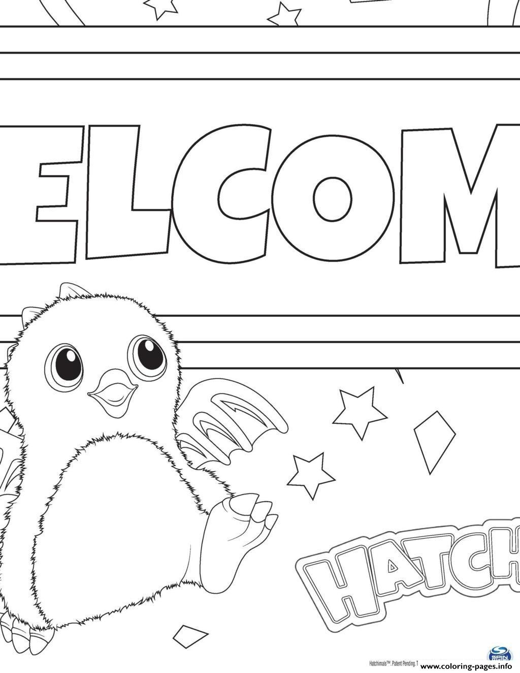 hatchimal coloring pages - hatchy hatchimals toy printable coloring pages book