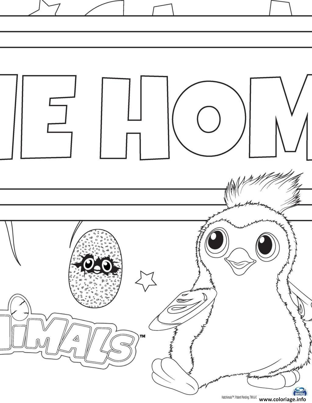 hatchimals coloring pages - hatchy hatchimals draggles coloriage dessin