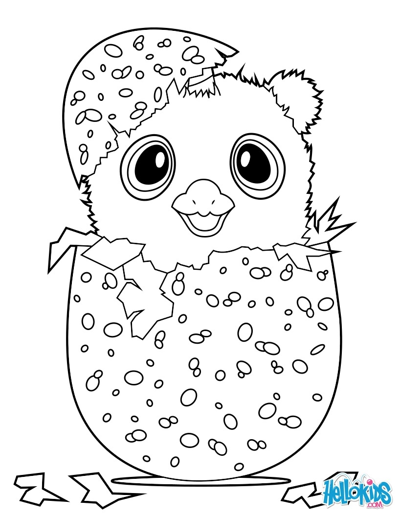 hatchimals coloring pages - hatchimals owlicorn
