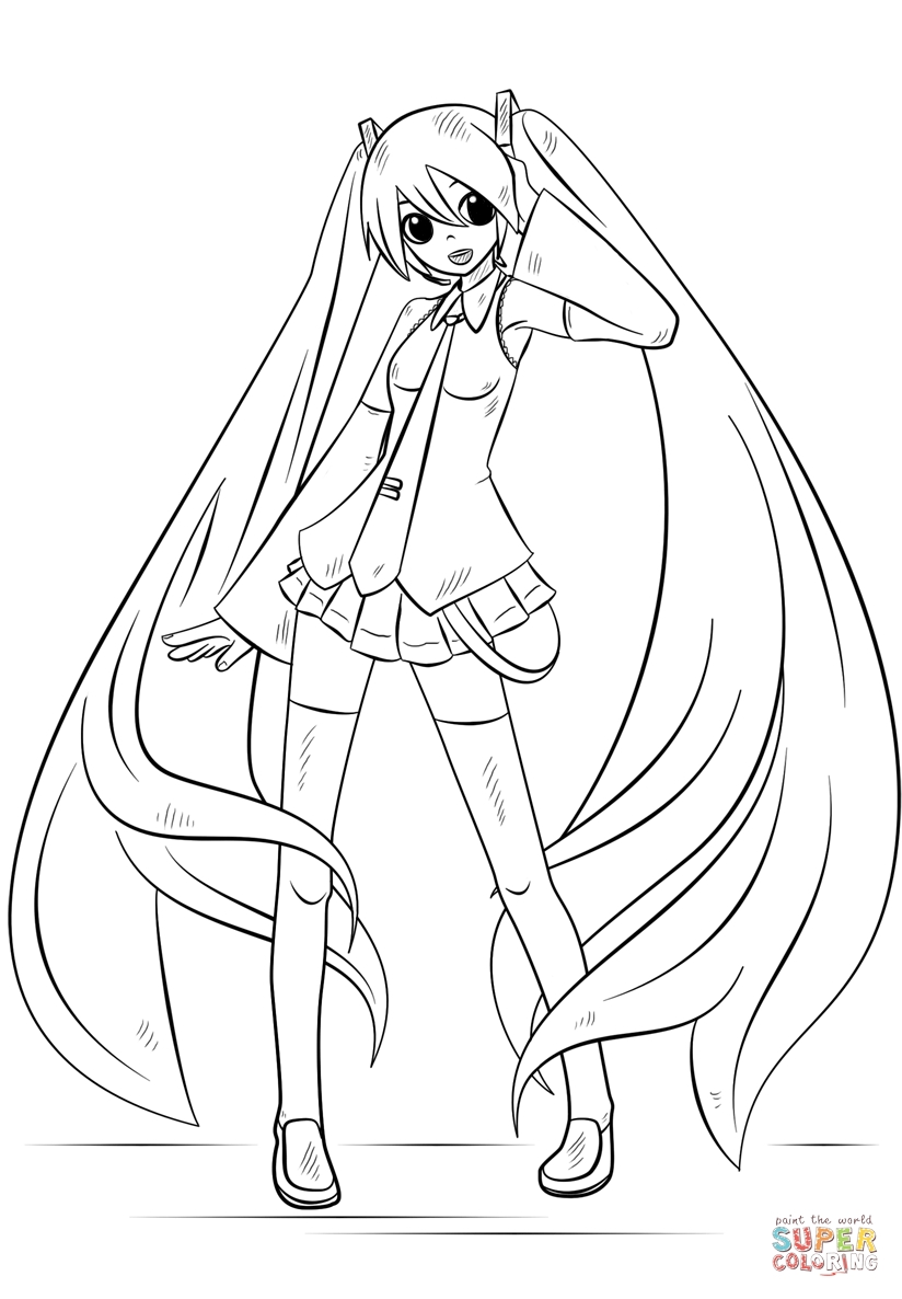 Hatsune Miku Coloring Pages - Hatsune Miku Coloring Page