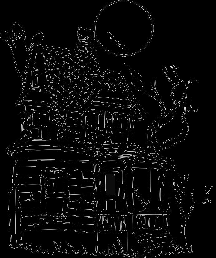 haunted house coloring pages - halloween coloring pages haunted house