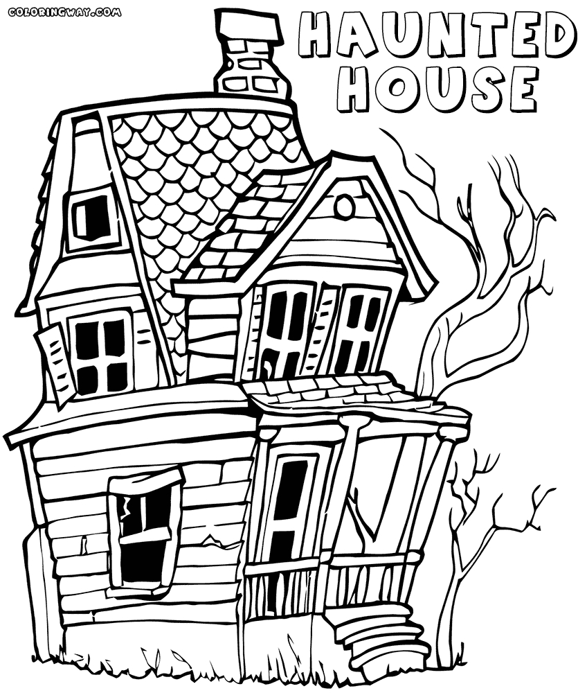 Haunted House Coloring Pages - Haunted House Coloring Pages