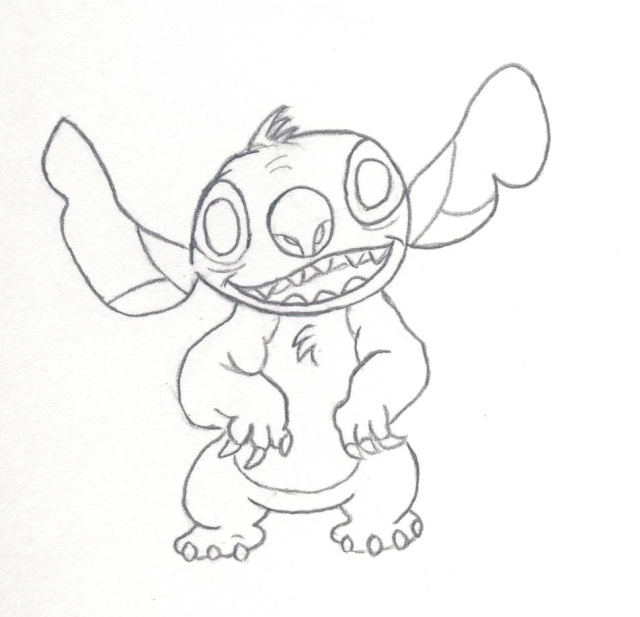 hawaii coloring pages - ment dessiner stitch