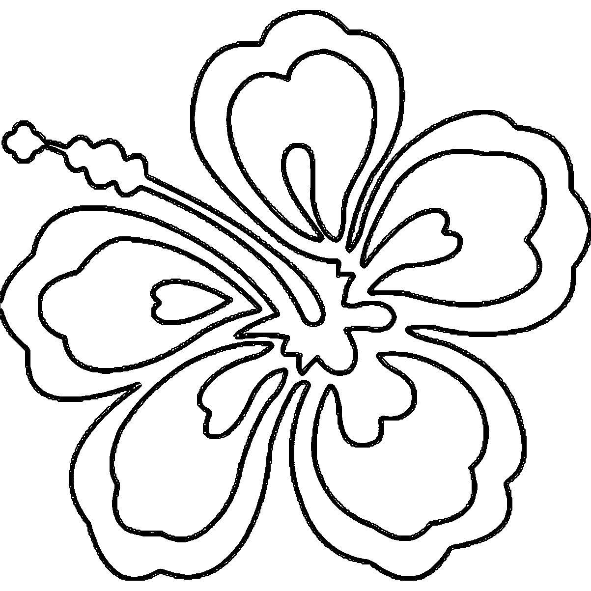 Hawaiian Flower Coloring Page - Hawaii Flower Coloring Page Coloring Home
