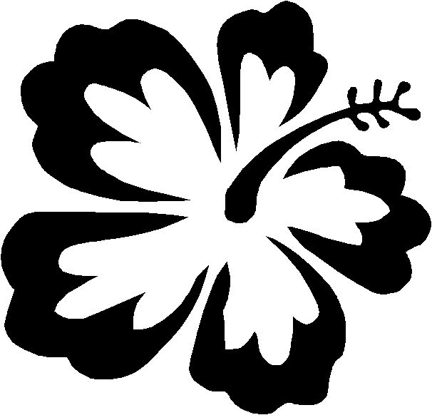 hawaiian flower coloring page - hawaiian flower coloring pages